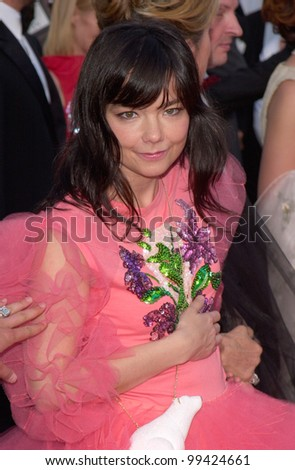 17MAY2000: Actress/singer BJORK at the premiere of her movie Dancer In The Dark at the Cannes Film Festival.  Paul Smith / Featureflash - stock photo