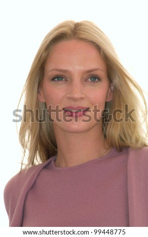 10MAY2000: Actress UMA THURMAN at the Cannes Film Festival where her movie Vatel opened the event.  Paul Smith/Featureflash  -  Cannes phone: +33 620 21 47 78 - stock photo