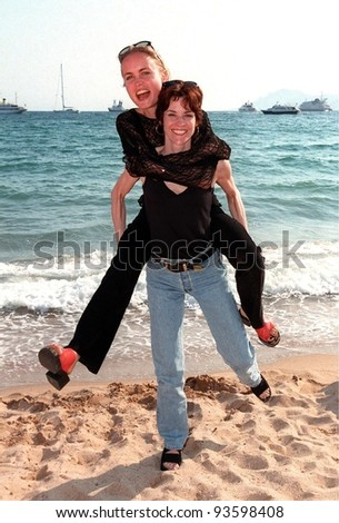 "20MAY98:  Actresses ALLY SHEEDY (right) & RADHA MITCHELL at the Cannes Film Festival to promote their new movie ""High Art."""