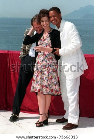 15MAY97:  CUBA GOODING JR. ANNABELLA SCIORRA & ROBIN WILLIAMS at the 1997 Cannes Film Festival. - stock photo