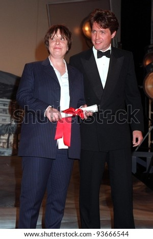 18MAY97:  HUGH GRANT & KATHY BURKE at the 1997 Cannes Film Festival.