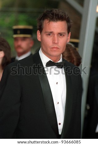 11MAY97:  JOHNNY DEPP at the 1997 Cannes Film Festival. - stock photo