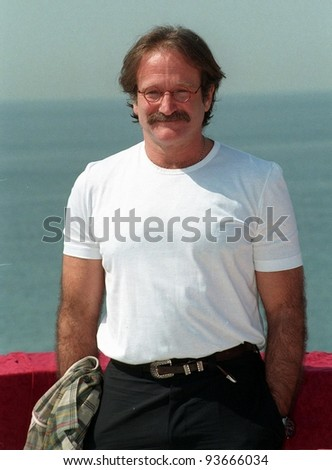 15MAY97:  ROBIN WILLIAMS at the 1997 Cannes Film Festival. - stock photo