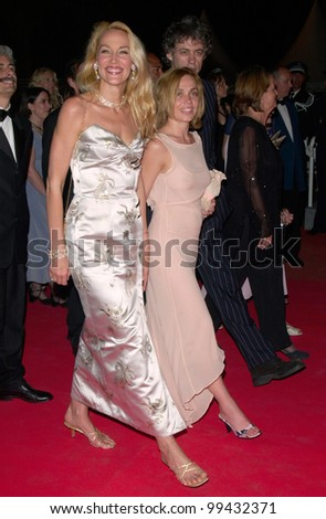 15MAY2000:  Supermodel JERRY HALL (left) with pop star SIR BOB GELDOF & girlfriend at the Cannes Film Festival for the premiere of Honest directed by Dave Stewart.  Paul Smith / Featureflash