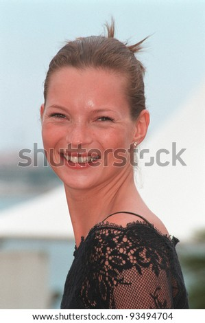 22MAY99: Supermodel KATE MOSS at the Cannes Film Festival where she's promoting L'Oreal.  Paul Smith / Featureflash - stock photo