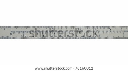 measure in centimeters, millimeters,  isolated on white background
