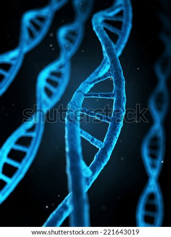 medical illustration of the human genes - stock photo