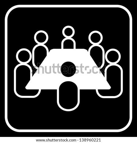 meeting symbol - stock photo