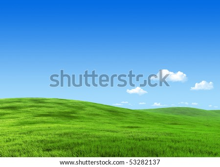 25 megapixel nature collection - Green meadow template - stock photo