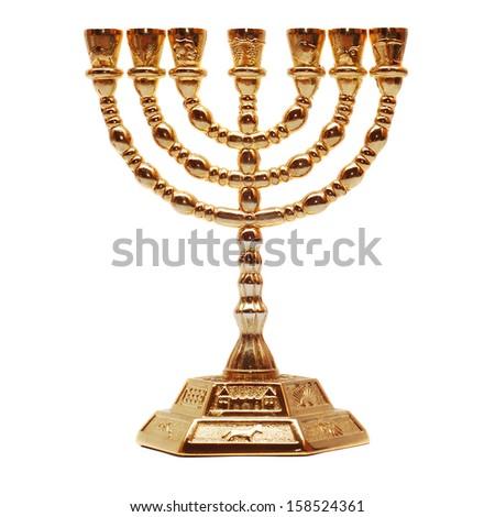 menorah  - stock photo