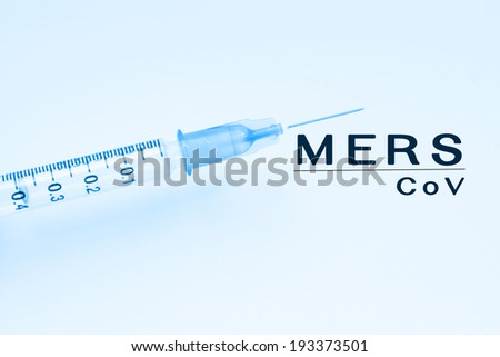 Mers-Cov,Middle East Respiratory Syndrome Coronavirus ,Concept Background - stock photo