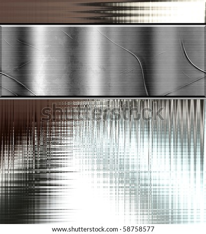 Metal Banner And Texture Design - stock photo