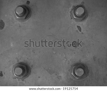 metal plate with bolt. An abstract background - stock photo