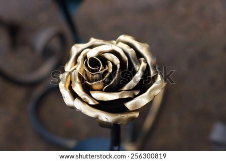 Metal rose - stock photo