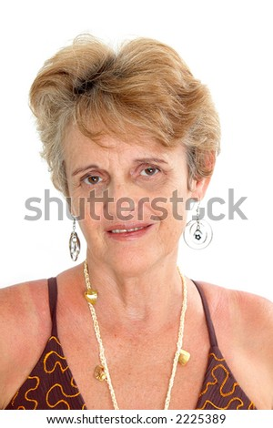 """Middle-aged"" Woman 50's Portrait . - stock photo"