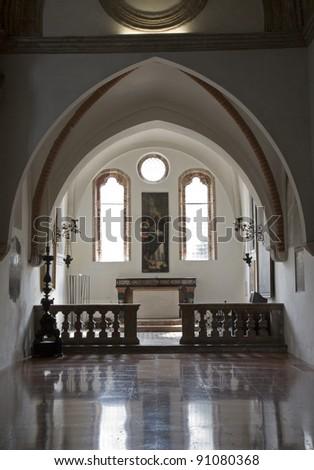 Milan - indoor of Cappella Portinari - stock photo