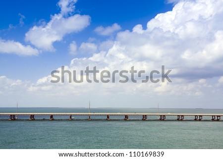 7 Mile Bridge - stock photo