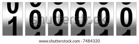 100,000 Mile Odometer - stock photo