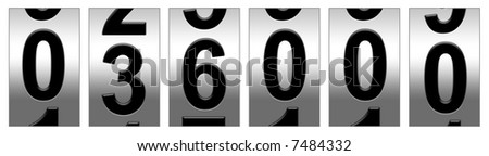 36,000 Mile Odometer - stock photo