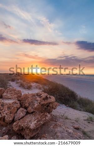 80 miles beach in Western Australia - stock photo