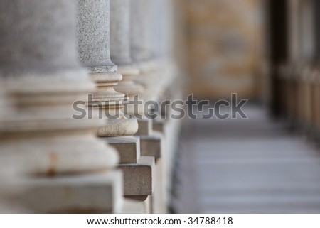 Mill Colonnade in Karlovy Vary. Czech Republic. - stock photo
