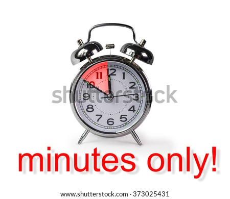 10 minutes only, clock - stock photo
