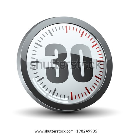 30 Minutes Timer - stock photo