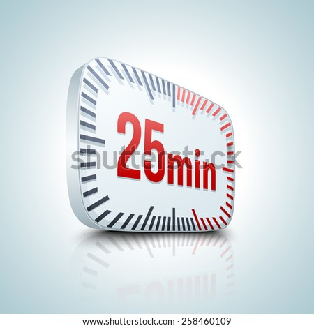25 minutes timer - stock photo