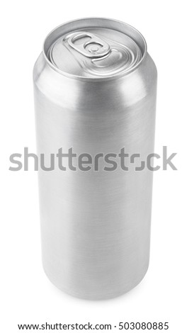 500 ml aluminum beverage drink beer can isolated on white with clipping path