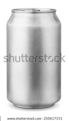 330 ml aluminum can isolated on white background with clipping path