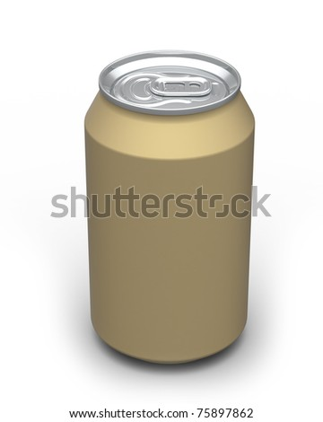 330ml Soda Drinks golden Can (3D rendered)