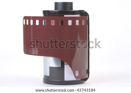 35 mm film, isolated - stock photo