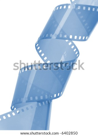 35 mm film isolated in white background - stock photo