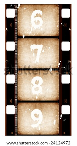 16 mm Film roll,Digital art - stock photo