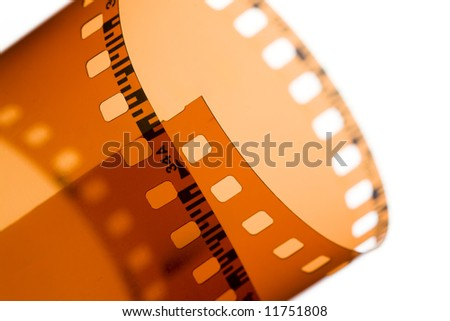35 mm film strip - stock photo
