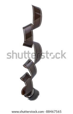 35mm film strip isolated on white background - stock photo