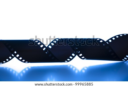 35mm film strip shot tungsten - stock photo