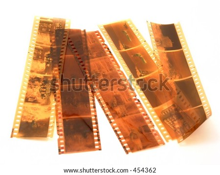 35mm film strips - stock photo