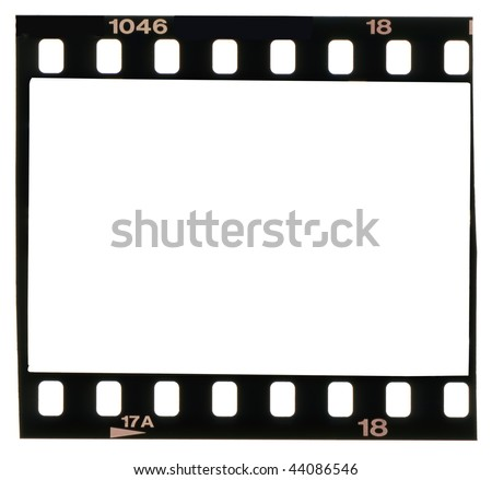 35 mm filmstrip,isolated on white background - stock photo