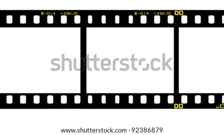 35 mm. filmstrip isolated on white background