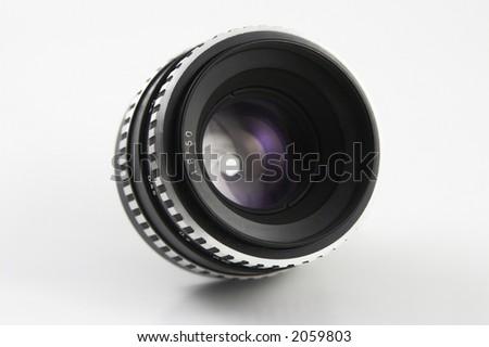 50mm lens - stock photo