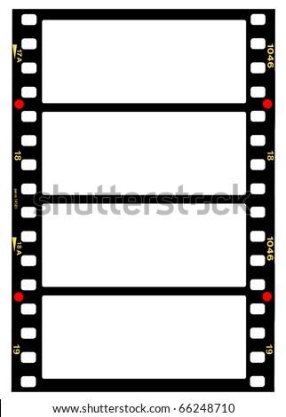 35 Mm Panorama Format Filmstripblank Frames Stock Photo (Edit Now ...