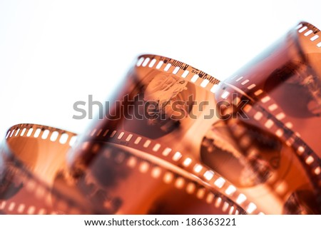 35mm photo film - stock photo