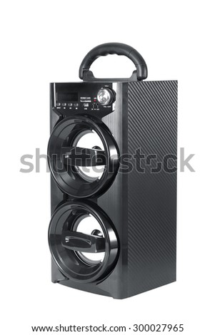 mobile speaker system isolated on white