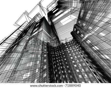 modern architecture - stock photo