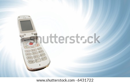 Modern clamshell cell phone
