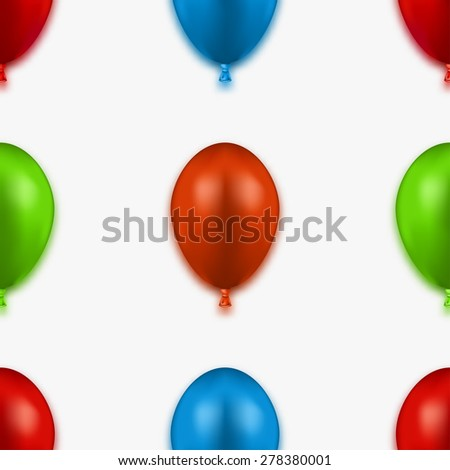 modern colorful seamless balloons background.  - stock photo