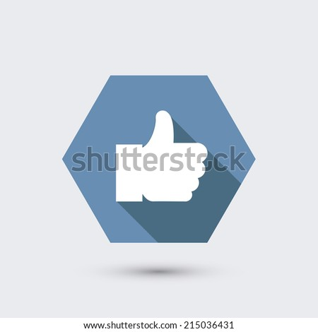 modern flat icon with long shadow. - stock photo