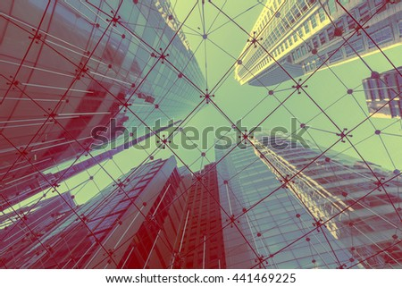 Modern glass building in Sydney city - stock photo