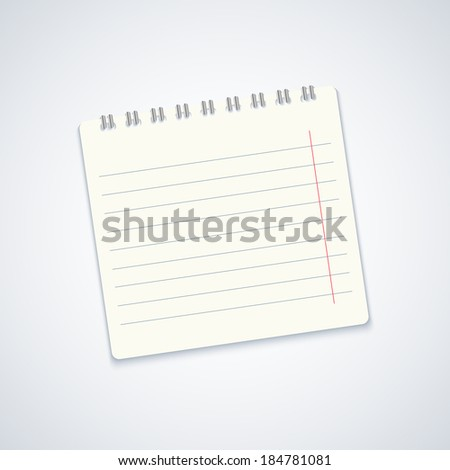 modern notebook on gray background.